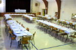 Youth Rockathon - Tables set up for Pancake Lunch next day