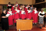 The Ste Genny's choir at rehearsal at Summerlea
