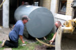 Oil tank replacement, August 4, 2011.