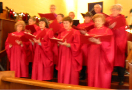 The Senior Choir (were they bouncing or was it the camera man?)